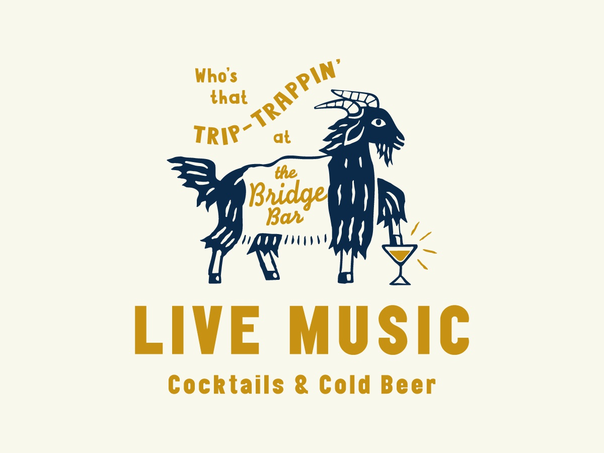 Bridge Bar Billy Goat goat cocktail cocktails branding identity typography logo illustration bar nashville