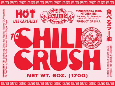 Ticonderoga Club Chili Crush Label Art packagingpro chilis chili illustration packaging