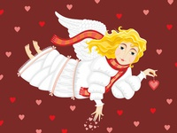 Angel. Valentine's Day Card