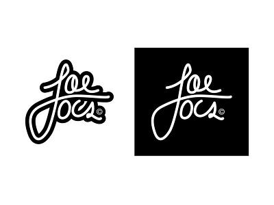 Joelocs Logo cursive drawn lettering type locs 1color identity logo branding mikemerrilldesign typography hair