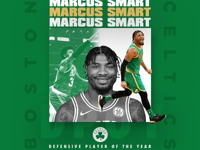 Marcus Smart For DPOY ig dpoy defense design smart hoop sports marcus graphic layout mikemerrilldesign boston celtics nba sport basketball type