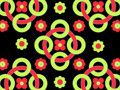 Geometric Pattern retro circles rings shapes knockout mikemerrilldesign wallpaper flower link floral geometric pattern