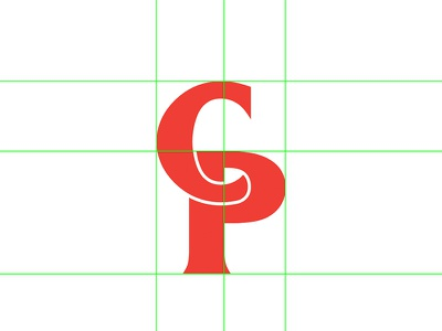 CP grid branding typography mikemerrilldesign letters stroke initials lettering type