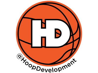 Hoop Development Sticker branding logo mikemerrilldesign training sticker hoop basketball