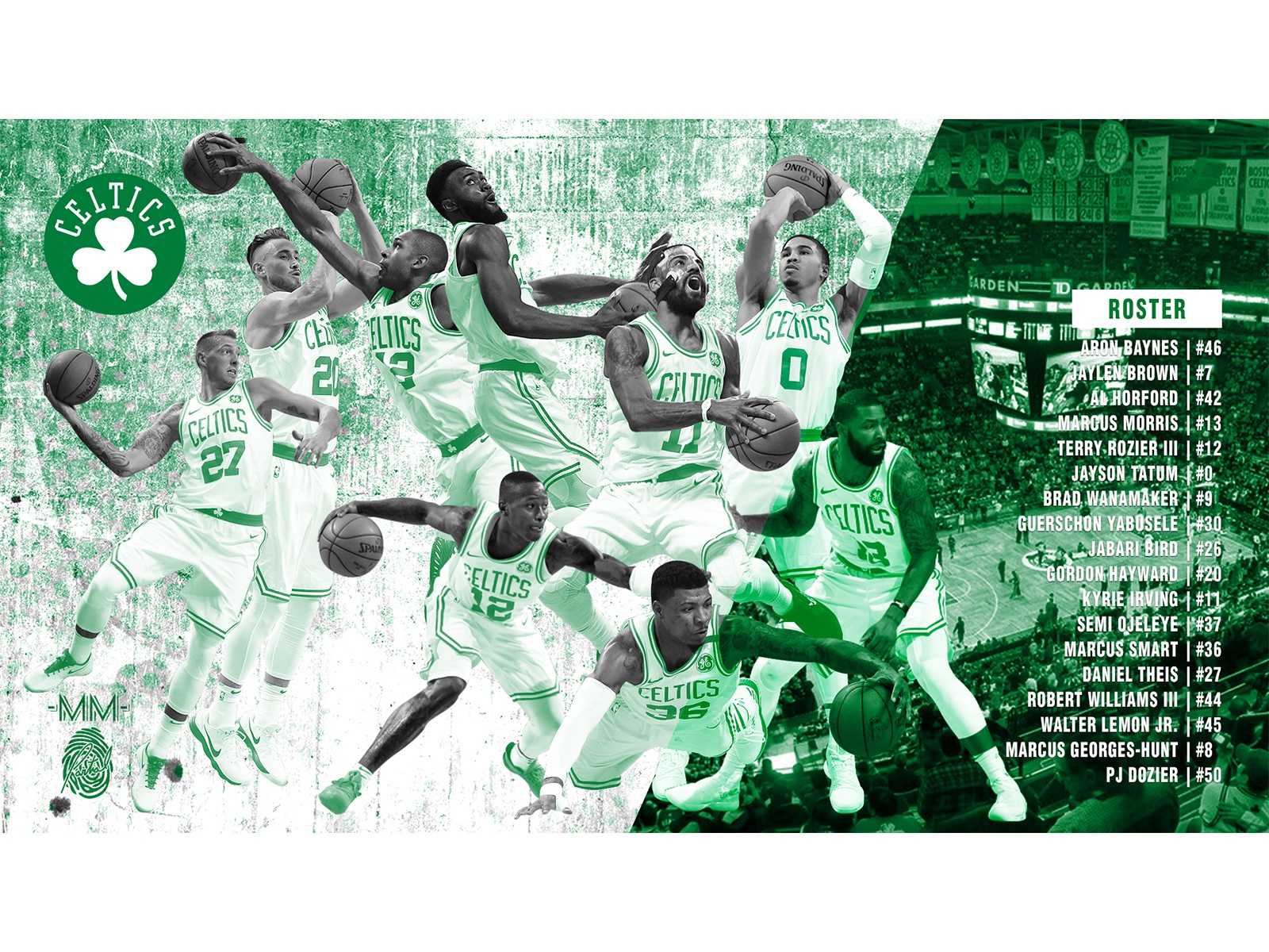 2019 Boston Celtics Poster Wallpaper By Mike Merrill On Dribbble