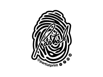 Partial Print Sticker 2019 mikemerrilldesign music signature promo sticker icon logo print branding 1color
