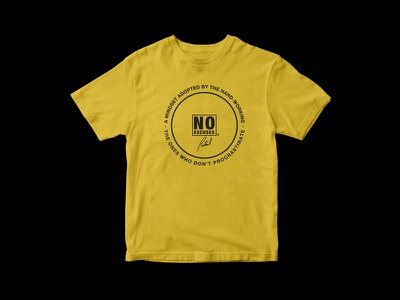 Partial Print - No Excuses Shirt quote logo music mikemerrilldesign partialprint 1color shirt promo album noexcuses