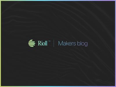 Rioll™ Makers blog logo gradient serif serif font vintage logo gradient logo typography simple logo modern logo logomark minimalism branding concept logo design logo branding