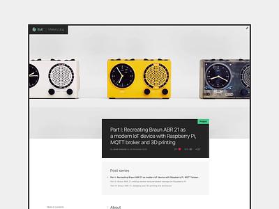 Rioll™ Makers blog interaction design dieter rams braun logo ui ux minimalism typography blog design blogpost blog