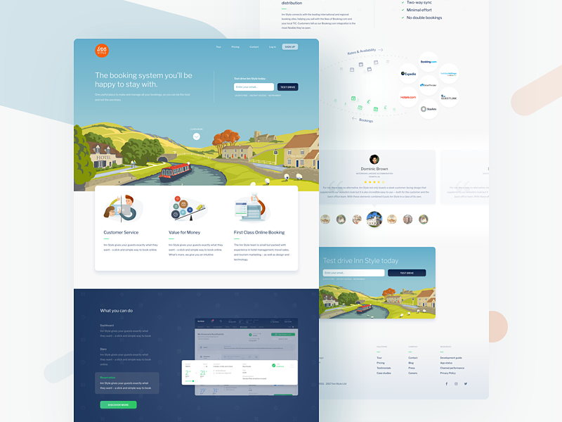 InnStyle - Landing Page ui ux redesign dashboard travel bnb guest hotel booking