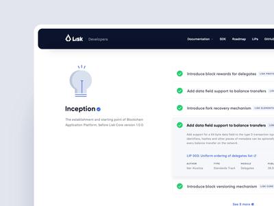 Lisk Roadmap icon typography minimalism website vector ux ui team work rwd developers landing page illustration design system crypto blockchain