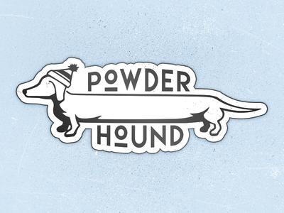 Powder Hound Sticker