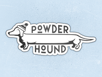 Powder Hound Sticker