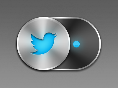 Sliding Twitter Button