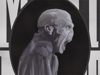 He Who Must Not Be Named grey illustration portrait black and white