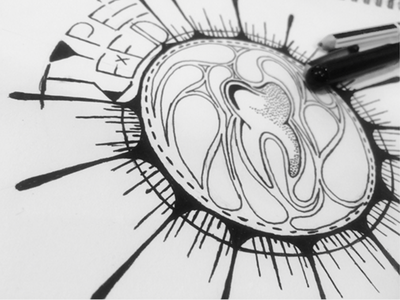 Single nemisa sibusisolukhele sketched typekeed finliner pens drawing design sketching