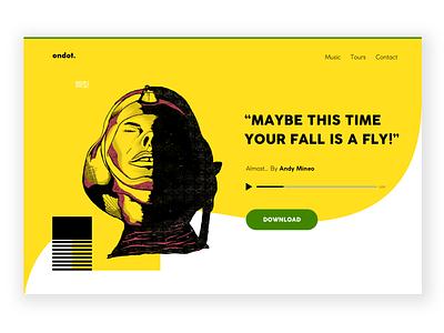 Ondot webdesign fun sibusisolukhele yellow doodle ui design typekeed andymineo