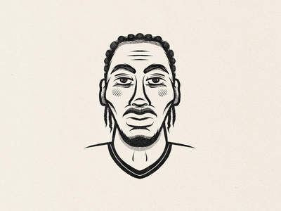 Kawhi Leonard procreate sports drawing illustration face portrait basketball los angeles raptors kawhi leonard kawhi
