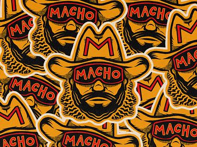 Macho Man, Randy Savage! wrestling procreate drawing sports macho face macho man wwe badge sticker illustration portrait