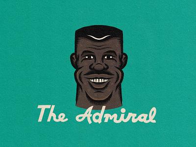 David Robinson, aka The Admiral sports sports design drawing procreate illustration face portrait basketball san antonio spurs david robinson
