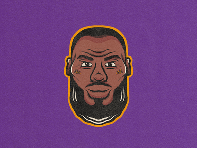 LeBron James procreate basketball face sports design sports portrait nba