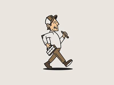 Still Working! design illustration branding logo character vector mascot