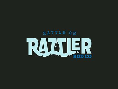 Rattler Rod Co vector badge sticker fish snake branding brand logo coast fishing rod rod fishing rattler