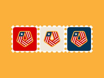 USA Pentagon patch design patch design branding patriotic pattern pentagon americana america sticker badge vector flag