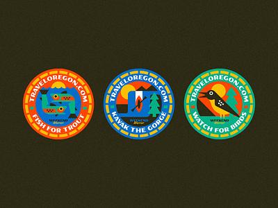 Travel Oregon! design sticker vector patch badge illustration oregon