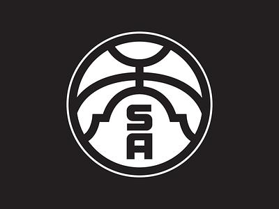 NBA: San Antonio Spurs - Secondary Logo sports logo sports branding badge branding sports basketball alamo san antonio spurs san antonio spurs logo nba