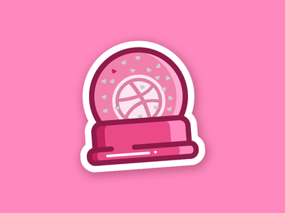 Dribbble Snow Globe playoff rebound design icon snow basketball sticker like snow globe sticker mule dribbble