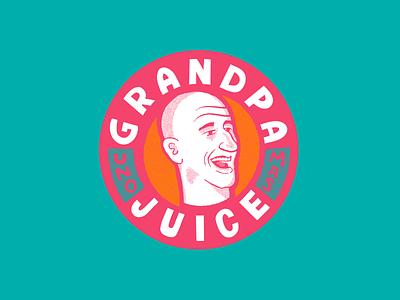 Grandpa Juice lettering halftones juice box argentina spurs san antonio illustration sticker nba basketball juice ginobili manu