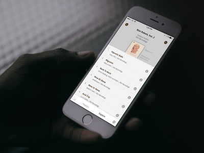 Detail page of an album release - Pulselocker iOS App