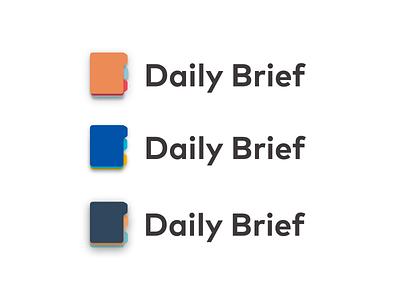 Brief Logo vector branding icon daily material document file brief logo design logo