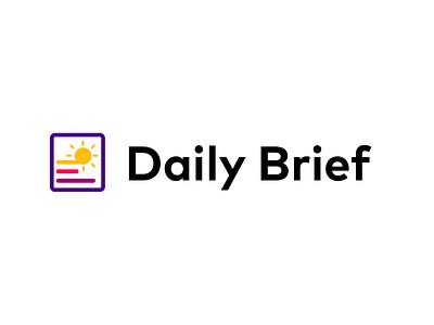 Daily Brief Final Logo newsletter news brief app logo illustrations illustration flat vector design branding daily