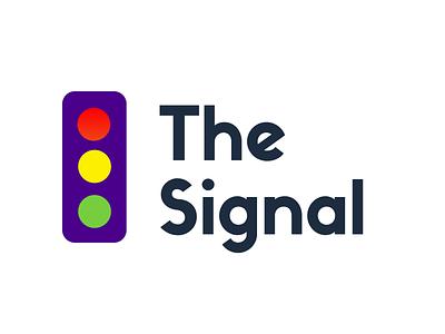 The Signal Logo briefs newsletters newsletter traffic light traffic signal typography brief logo illustrations branding illustration flat daily vector design