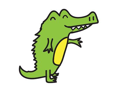 Golu the Crocodile iMessage stickers cartoon illustrations animalstickers cute animals imessage stickers crocodile golu