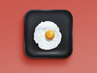 Egg iphone ios icon photoshop