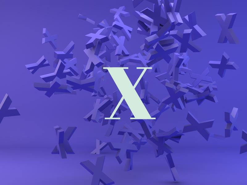 X rebound x letter design