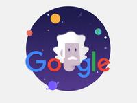 Google Doodle Albert Einstein