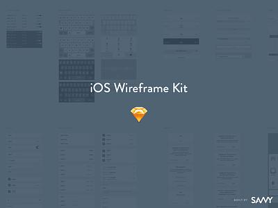 The Savvy Sketch iOS Wireframe Kit ios 10 ux freebie wireframe kit sketch ios