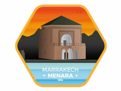 Marrakech Menara Badge