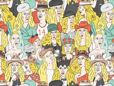 Take off that silly ass hat: Sarah Jessica Parker sex and the city pattern design pattern illustation
