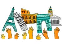 theSkimm: Refuges in Europe paris europe editorial illustration illustration art illustration