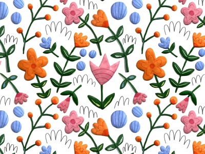 Ready for Warmth flower pattern illustration