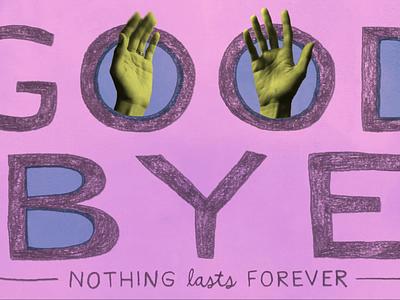 Bye collage animated gif gif animation illustration