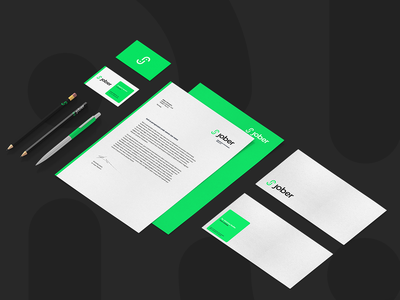 Jober - Branding (Logo and Identity) clean design logo brand identity design logo design branding