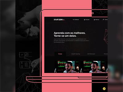 Start Zero Pro - Website Design (UI/UX) dark website website design system design interface design ux ui design ux-ui ui ux ui design ux design