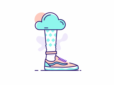 Vansilo cloudy waether icon outline illustration illustration outline feet foot leg shoes vans