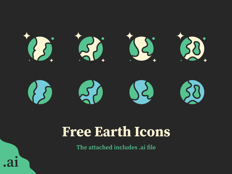 Freebie: Earth Icons line icon outline the earth earth icon space planet earth earth illustration illustration freebie icon earth